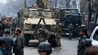 American soldiers in Kabul.