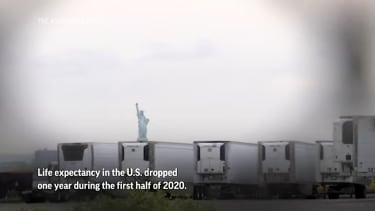 Morgue trucks in New York
