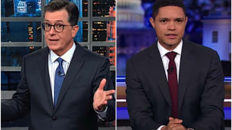 Stephen Colbert and Trevor Noah on Trump and Hurricane Dorian
