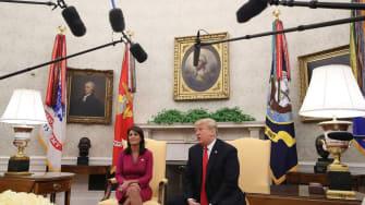 President Trump and U.S. Ambassador to the U.N. Nikki Haley
