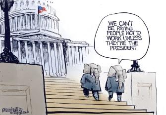 Political Cartoon U.S. Trump GOP coronavirus relief