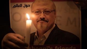 A candlelight vigil for Jamal Khashoggi.