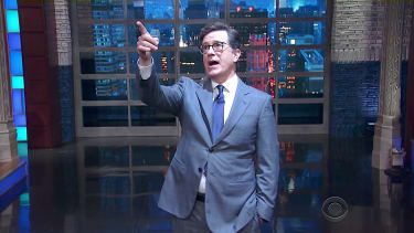 """Stephen Colbert and """"God"""" discuss Trump and religion"""