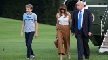 Melania and Barron Trump move into the White House