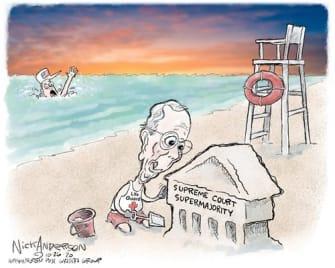 Political Cartoon U.S. McConnell SCOTUS COVID relief