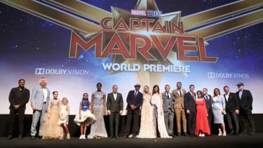 Captain Marvel cast.