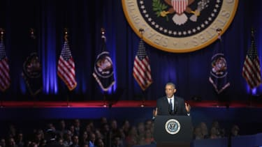 President Obama delivers his farewell address in Chicago.