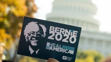 A supporter of Sen. Bernie Sanders.