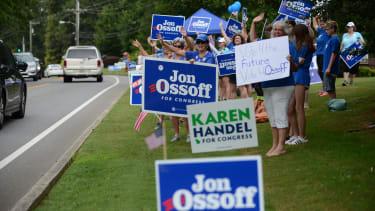 Jon Ossoff supporters.