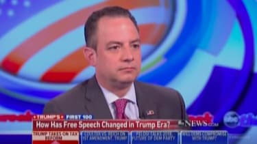 Reince Priebus suggests the Trump administration has sought to weaken First Amendment protections.