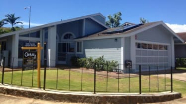The Hawaiian home where Snowden lived with his girlfriend.