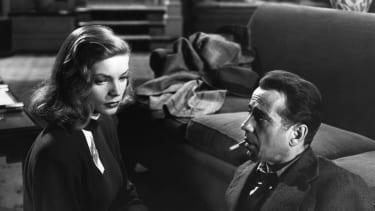 Lauren Bacall and her husband actor Humphrey Bogart star in The Big Sleep.