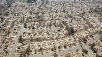 Santa Rosa, California, after the flames.