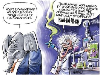 Political Cartoon U.S. gop science