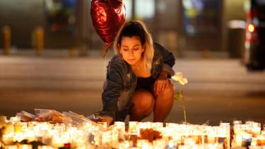A vigil for victims of the Las Vegas massacre.