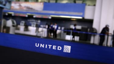 A United Airlines terminal at Newark