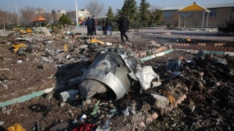 Iran plane crash site.