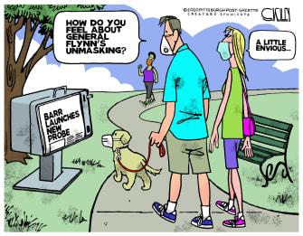 Editorial Cartoon U.S. michael flynn unmasking coronavirus