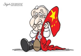 Political Cartoon U.S. Biden China Linus Peanuts