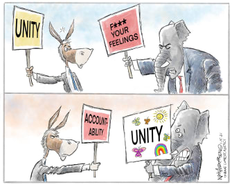 Political Cartoon U.S. GOP democrats
