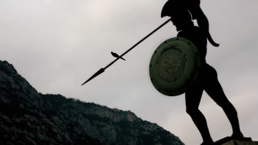 The statue of King Leonidas.