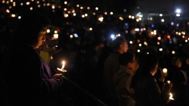 A vigil in San Bernardino.