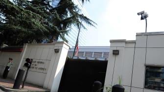 A file photo of the U.S. consulate in Chengdu, China.