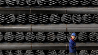 A steel factory in China.