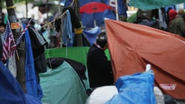 Tents cover New York's Zuccotti Park