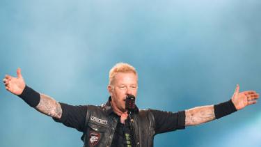 James Hetfield of Metallica on stage