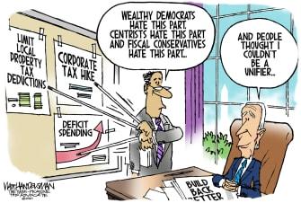 Political Cartoon U.S. biden infrastructure gop democrats