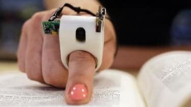 High-tech finger ring can read to the visually impaired in real time
