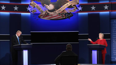 Donald Trump and Hillary Clinton at the first presidential debate.