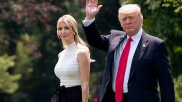 Ivanka Trump and President Trump.