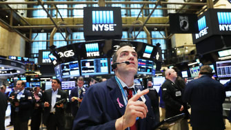 The New York Stock Exchange reacts to Brexit news