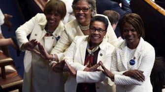 Female members of Congress.
