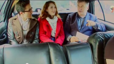 Watch Alec Baldwin give an unsuspecting couple love advice in a cab