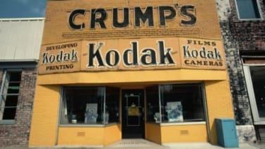 A shuttered Kodak camera store in 1981