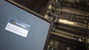 A computer running a Windows Server.