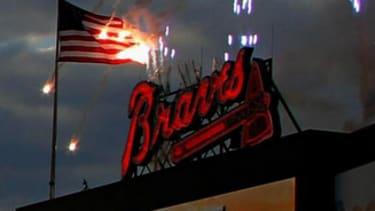 Atlanta Braves set American Flag on fire