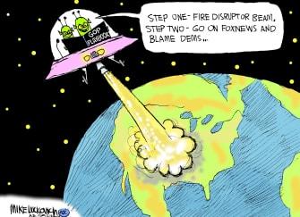 Political Cartoon U.S. aliens gop fox news democrats