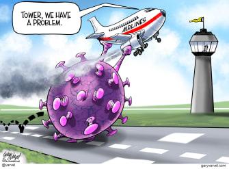 Editorial Cartoon U.S. airlines coronavirus
