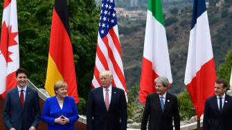 Trump and G7 leaders.