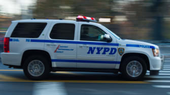An NYPD squad car.