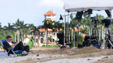 A reporter watches Donald Trump's Mar-a-Lago from afar