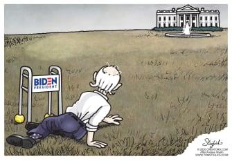 Political Cartoon U.S. Biden Christinas World Wyeth 2020