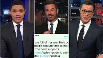 Jimmy Kimmel, Stephen Colbert, and Trevor Noah mock Devin Nunes