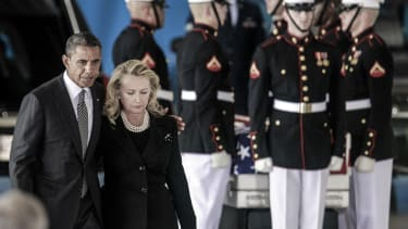 President Obama and Hillary Clinton after the Benghazi attack in 2012.