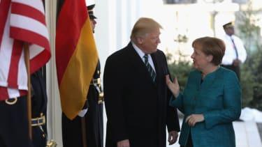 President Trump and German Chancellor Merkel.
