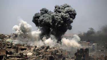 A July airstrike in Mosul.